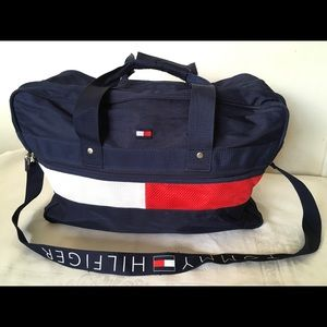 """Tommy Hilfiger 18"""" navy duffle carry on bag"""